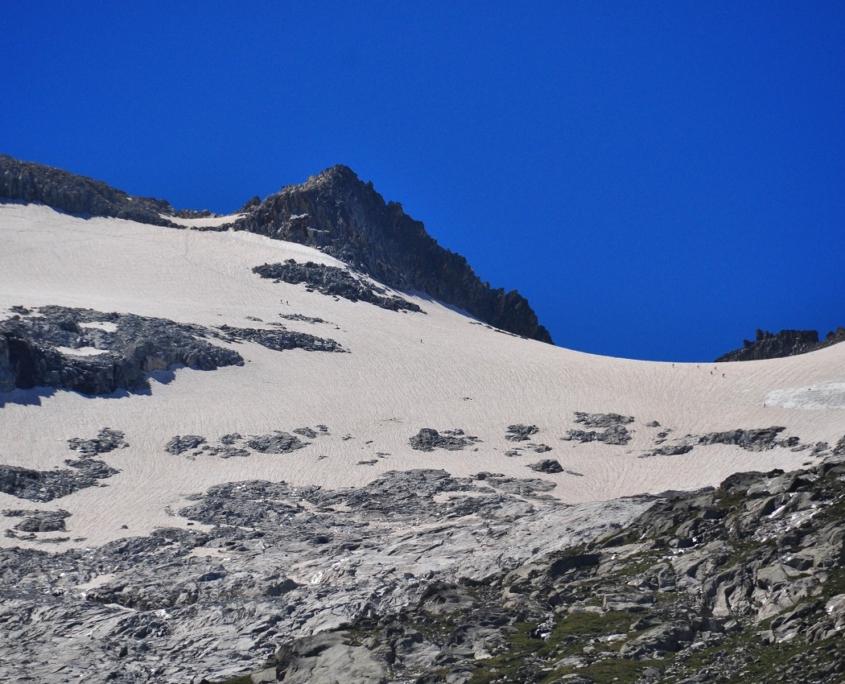 アネト山北斜面の氷河