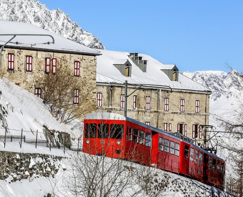 モンタンヴェール登山列車