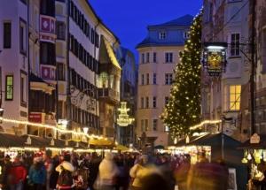 インスブルックのクリスマスマーケット