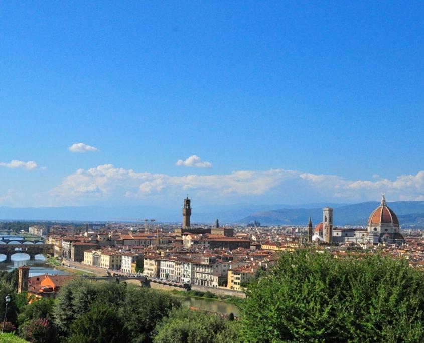 ミケランジェロ広場から見たフィレンツェ