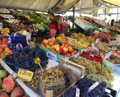 エルベ広場(パドヴァ)の市場