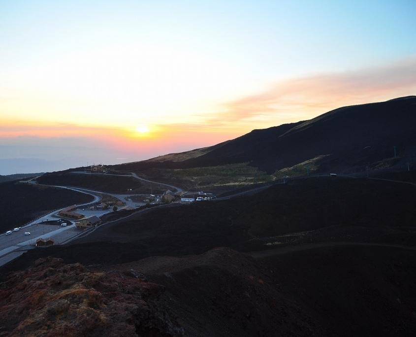 エトナ・サウスからの夕景、シチリア