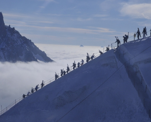 ヴァレブランシュ氷河へ