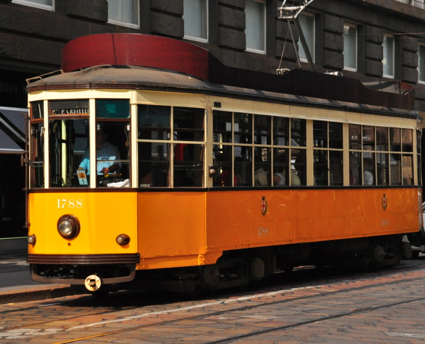 ミラノのトラム(旧型車両)