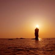 ろうそく岩_隠岐の島 写真提供:隠岐の島町役場
