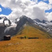 ガイスベルグ氷河(左)とロートムース氷河(右)