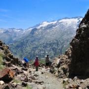 ベナスケ峠から見るアネト山北壁