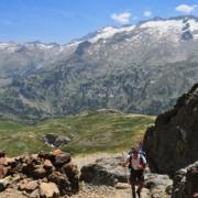 ベナスケ峠から見たアネト山北壁